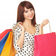 Pretty woman with shopping bags — Stock Photo #18333813