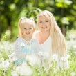 Happy mother and daughter in the park — Stock Photo