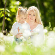 Mother and daughter in the park — Stock Photo #28391797