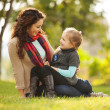 Mother and daughter in park — Stock Photo #35258883
