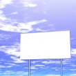 Empty billboard and sky in the background — Stock Photo #9429554