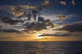 Caribbean sunset — Stock Photo