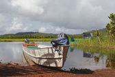 Amazonian boat — Stock Photo