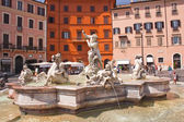 Neptune's Fountain in Rome — Stock Photo