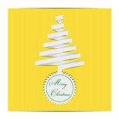Yellow papper christmas tree — Stock Vector