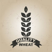 Natural Grunge wheat label — Stock Vector