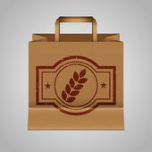 Paper Bag With Natural Logo — Stock Vector