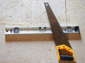Carpentry tools. Peel, the metal level. — 图库照片