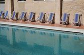 Pool. beach chairs — Zdjęcie stockowe