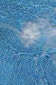Swimming pool water filling — Foto Stock