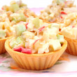 Stock Photo: Crab salad tartlet