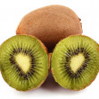 Kiwi fruit on white background — Stock Photo