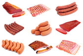 Sausages and smoked — Stock Photo