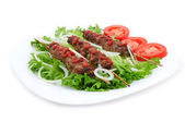 Minced lamb with vegetables — Stock Photo
