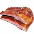 Stock Photo: Smoked pork ribs