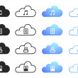 Cloud Computing - Set 2 — Stock Vector