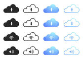 Cloud Computing - Set 1 — Stock Vector