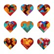 Puzzle Hearts — Stock Vector #15679679
