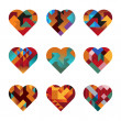 Puzzle Hearts - Stock Vector