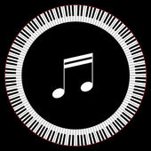 Circle of Piano Keys — Stock Vector