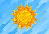 Geometric Sun — Stock Vector