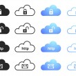 Cloud Computing Collection Set 4 — Stock Vector