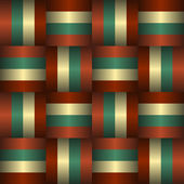 Interlaced Ribbons Seamless Pattern — Stock Vector