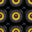 Audio Speaker Seamless Pattern — Stock Photo