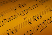 Music Sheet Detail — Stockfoto