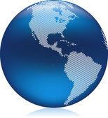 Globe Americas — Stock Vector