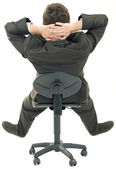 Relaxing on Chair Cutout — Stock Photo