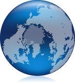 Globo azul — Vector de stock