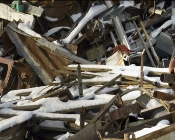 Depósito de chatarra — Vídeo de stock