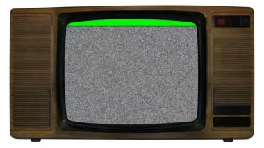 Old static television — Stock Video