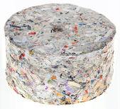 Paper Briquette Cutout — Stock Photo
