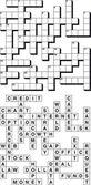 Crossword Puzzle — Stock Vector