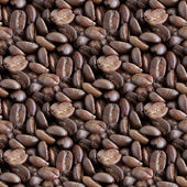 Coffee Beans Tilling Texture — Stock Photo