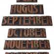 Year Month Calendar Cutout — Stock fotografie
