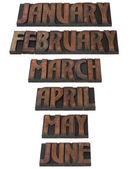 Year Month Calendar Cutout — Stock Photo