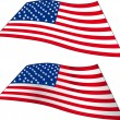 Two American Flags - Stock Vector