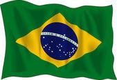 Flag of Brasil — Stock Vector