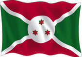 Burundi flag — Stock Vector