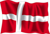 Denmark flag — Stock Vector