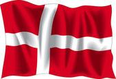 Flaga Danii — Wektor stockowy