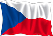 Flag of Czech Republic — Vecteur