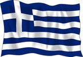Greek flag — Stock Vector