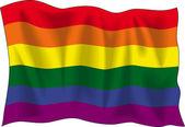 Gay pride flag — Stock Vector