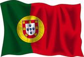 Bandiera del portogallo — Vettoriale Stock
