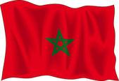 Marocco bayrağı — Stok Vektör