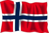 Nerwegian flag — Stock Vector